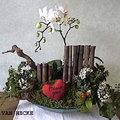 Bloemschikken Valentijn: compositie met orchidee van CUPIDO