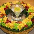 Kransen maken: bladapplicatie met herfstkleuren