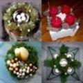 Adventskransen gemaakt door leden van het bloemschikforum