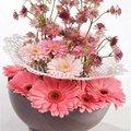 Gerbera is zeer bijzondere bloem voor op een prominente plek