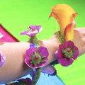 Draagbare bloemen - bloemen als sierraden