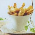 Puree van aardappel & Wedges en dip