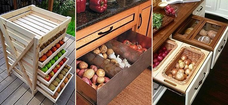 Welke soorten groenten en fruit moeten in koele berging?