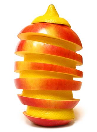 Creatief met groeten en fruit
