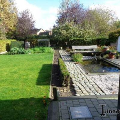 Tuinontwerp smalle diepe - Weergaven tuin lange ...