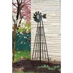 Obelisk met windwijzer - plantensteun