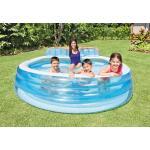 Intex familiezwembad met zitbank - 229 x 218 x 79 cm