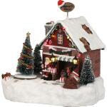 Kersttafereel Santa's office - 20 x 16 x 21 cm