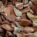 Baskisch rood split 18/25  in big bag ca. 0,7 m³