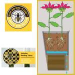 Bijenhuis en bloembak: 2 in 1