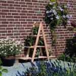Bloemenrek driehoek - grenenhout