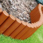 Borderrand palissade terracotta - 240 cm
