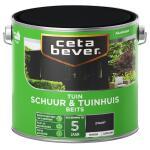 Cetabever Tuinbeits Schuur & Tuinhuis dekkend, zwart - 2,5 l