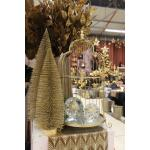 Dennenboom champagne glitter - 20 cm (6 stuks)