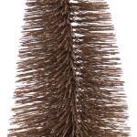 Dennenboom taupe glitter - 20 cm (6 stuks)