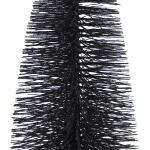 Dennenboom zwart glitter - 40 cm (3 stuks)