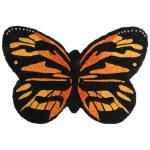 Deurmat kokos vlinder - ca. 60 x 42 cm