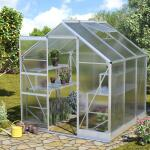 Drempelloze tuinkas met extra stevigheidsbeugels 3,8 m²
