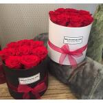 Flowerbox rond wit Ø 12 cm – Rood
