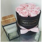 Flowerbox rond zwart Ø 15 cm – Roze