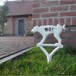 Hondenbordje niet plassen - wit