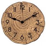 Klok met houtlook Tree Time - 30 cm
