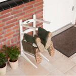 Laarzenrek staand in hout - 8 laarzen