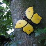 Vlinder geel muurdecoratie