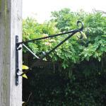 Muurhaak zwart voor hangmanden 38 cm