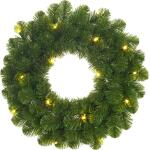 Norton kerstkrans groen met led verlichting - Ø 60 cm