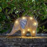 Olifant Woody met solarlicht
