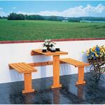 Opklapbare balkonset (tafeltje + bankjes)