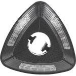 Parasolverlichting zwart driehoek