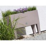Plantenbak RATAN verhoogd met watergeefsysteem mokka - 60x25x46 cm