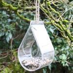 Raamvoederhuis druppelvorm - transparant