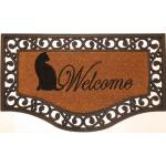 Deurmat Rialto halfrond 45 x 75 cm - Welcome kat