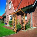 Houten rozenboog puntdak - grenenhout 167 x 53 x 219 cm