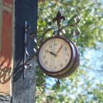 Stationsklok + thermometer York Station