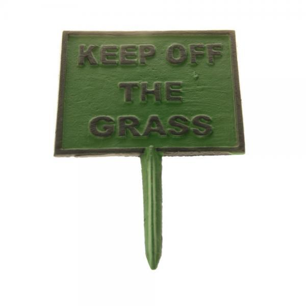 Tuinbord Keep off the grass