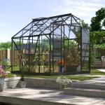 Kweekkas Jupiter 6700 aluminium ZWART 6,7 m² + gratis fundering