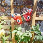 Vlinder dagpauwoog muurdeco 22 cm