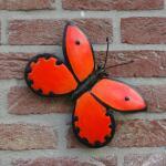 Vlinder oranje muurdecoratie