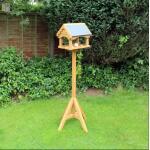 Voedertafel tuinvogels - dak in leisteen - 151 cm