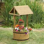 Wensput bloembak hout XL